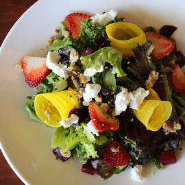colorful goat cheese salad at 240 west