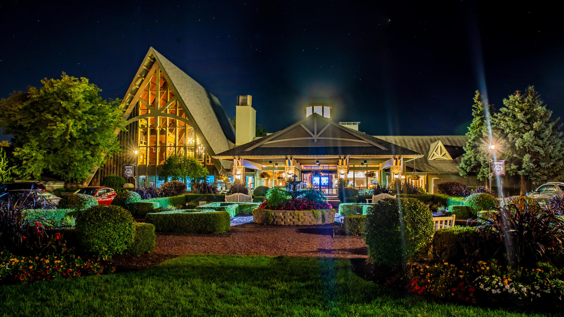 Abbey Resort at Night