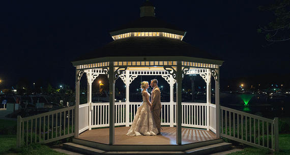 Harbor Gazebo at night