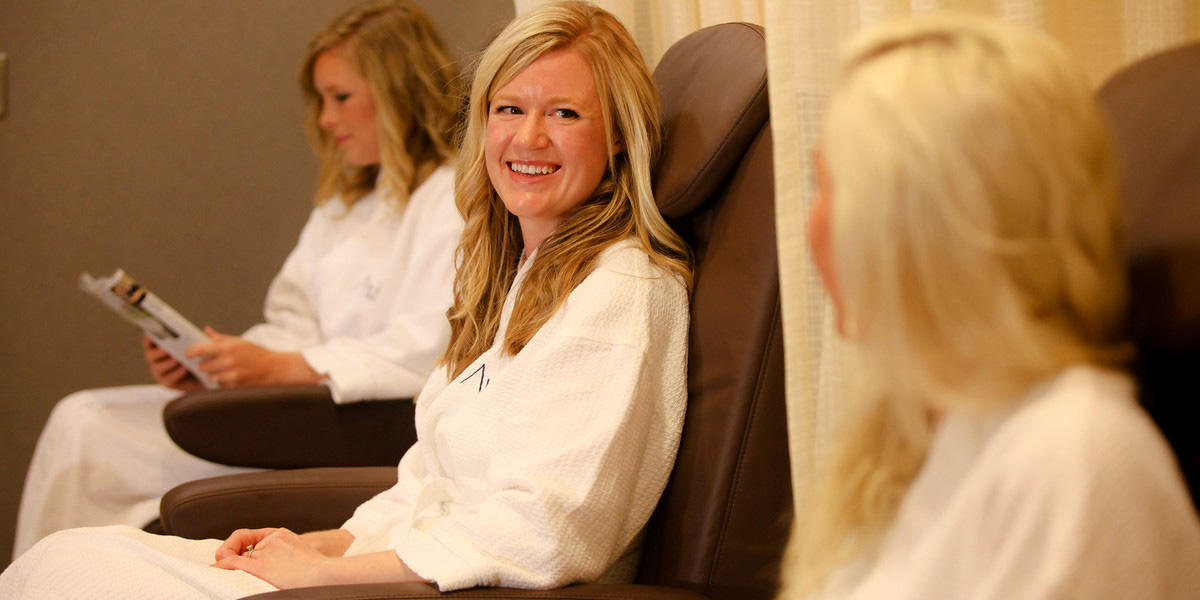 ladies getting pedicures at avani spa